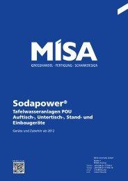 Sodapower-Katalog - Misa Vertriebs GmbH