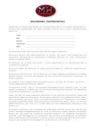 MASTERHOMES PARTNERVERTRAG - MasterHomes GmbH