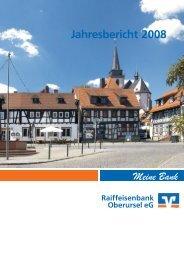 Geschäftsbericht 2008 - Raiffeisenbank Oberursel eG