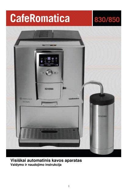 CafeRomatica 855/845/831/830 (PDF) - Nivona