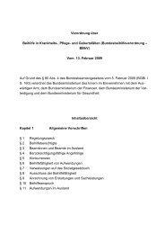 (Bundesbeihilfeverordnung – BBhV) Vom 13. Februar 2009