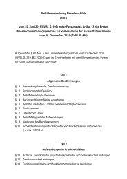 Beihilfenverordnung (BVO) vom 22. Juni 2011 der Fassung