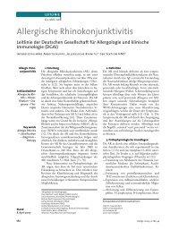 Allergische Rhinokonjunktivitis - dgaki