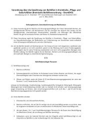 Verordnung über die Gewährung von Beihilfen in Krankheits-, Pflege