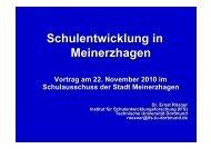 Schulentwicklung in Meinerzhagen