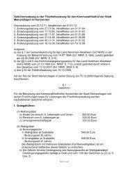 Gebührensatzung zu der Friedhofssatzung für den ... - Meinerzhagen