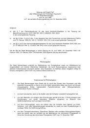 Satzung und Entgelt Tarif über  Hilfeleistungen der ... - Meinerzhagen