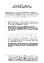 61.18 Satzung zur Bestimmung des Ausschusses ... - Meinerzhagen