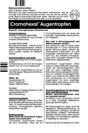 Cromohexal® Augentropfen