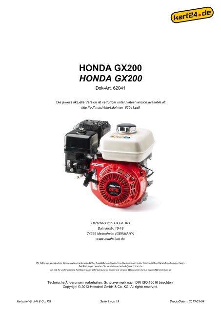 Kart Tankdeckel für Honda Tank GX270 Motor Benzintank
