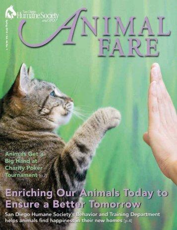 Spring 2012 U V ol. 46 No. 1 - San Diego Humane Society and SPCA