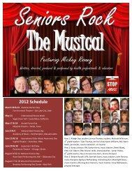 2012 Schedule - Seniors Rock
