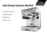 Solis Design Espresso Machine