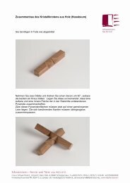 Zusammenbau des Kristallknotens aus Holz (Nussbaum)