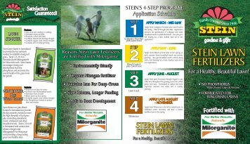 stein lawn fertilizers stein lawn fertilizers
