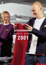 Annual Report 2001 - Stockmann Group