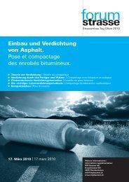 Einbau und Verdichtung von Asphalt. Pose et compactage des enrobés ...