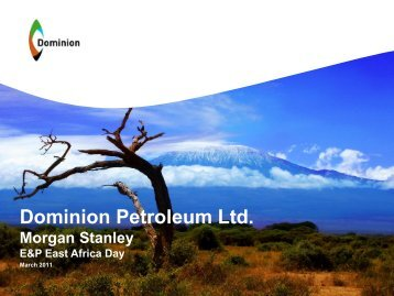 Morgan Stanley E&P East Africa Day 16th March - TheShareHub
