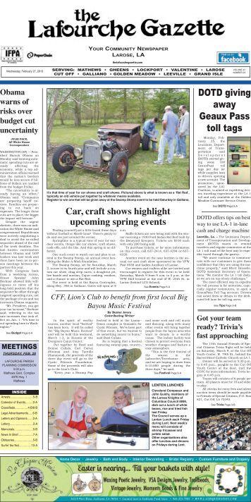Wednesday, February 27,2013 - The Lafourche Gazette