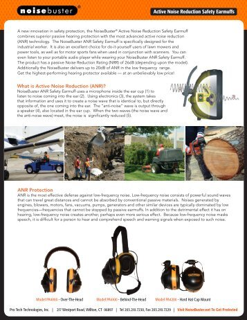 Active Noise Reduction Safety Earmuffs