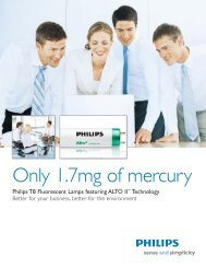 Philips Philips T8 Fluorescent Lamps featuring ... - Philips Lighting