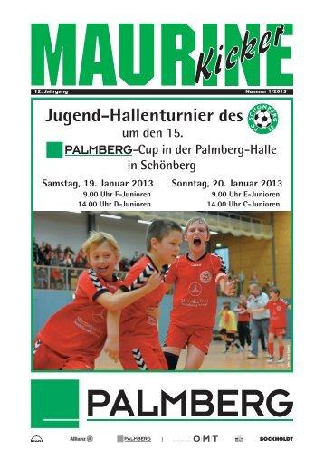 Maurine-Kicker 01/2013 - FC Schönberg 95