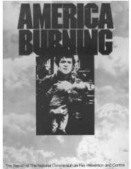 America Burning - US Fire Administration