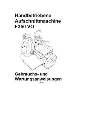Handbetriebene Aufschnittmaschine