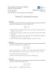 Tutorial 5: Dynamical systems - Institut für Mathematik - TU  Berlin