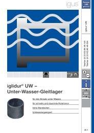 iglidur® UW – Unter-Wasser-Gleitlager - Igus