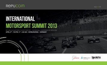 intErnational Motorsport suMMit 2013