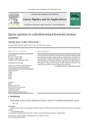 Sparse solutions to underdetermined Kronecker product systems (PDF