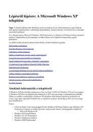 Lépésről lépésre: A Microsoft Windows XP telepítése