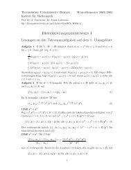 Differentialgleichungen I Lösungen zu den Tutoriumsaufgaben auf ...