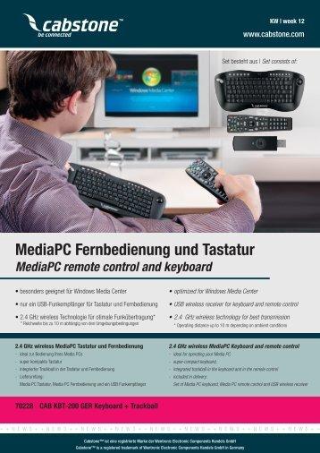 MediaPC Fernbedienung und Tastatur - ELV