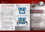 Flyer des Landesfeuerwehrverbandes Rheinland Pfalz