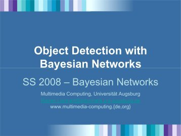 Object Detection with Bayesian Networks