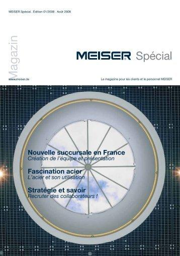 Le magazine pour les clients et le personnel MEISER