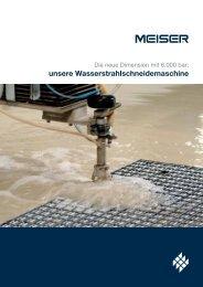 Wasserstrahlschneidemaschine - MEISER