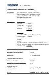 Beispiel HTS-Bemessung Flachdach - MEISER