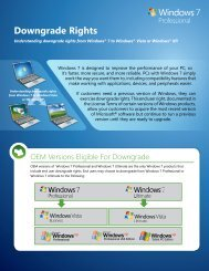 Understanding Downgrade Rights for Windows 7