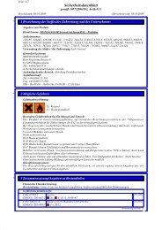 Sichheitsdatenblatt GFK Versiegelungslack - MEISER