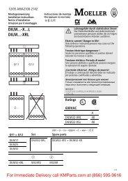 DILM32...-X...L, DILM...-XRL - Klockner Moeller Parts