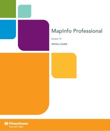 MapInfo Professional Install Guide - Product Documentation - MapInfo