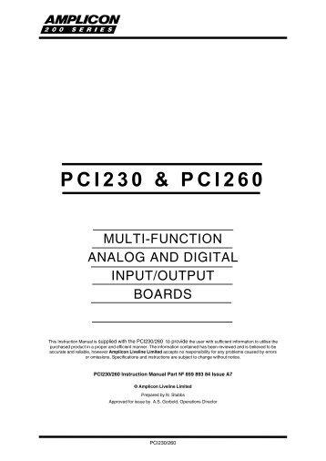 AMPLICON PCI230 DRIVERS FOR WINDOWS VISTA