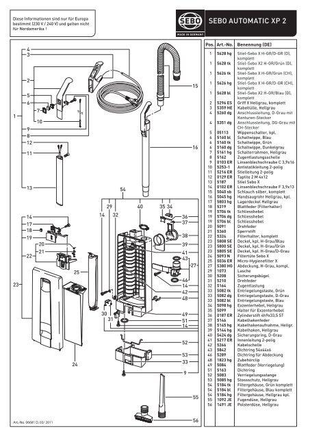 Drehfeder Achse für SEBO Automatic X4 Blau