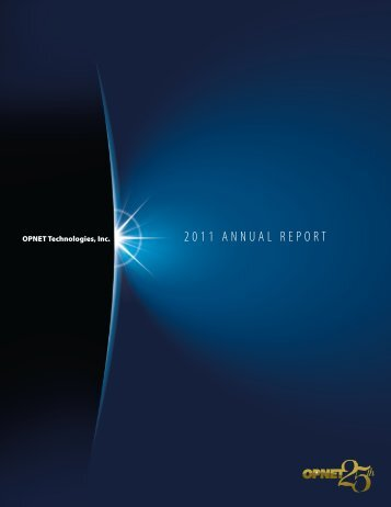 Download 2011 Annual Report - Opnet