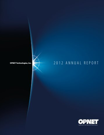 Download 2012 Annual Report - Opnet
