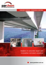 leaders in concrete repair and innovative corrosion ... - Parchem