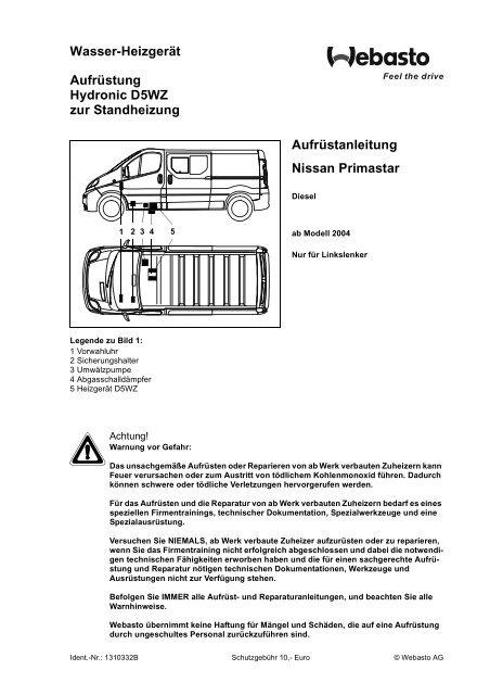 Opel Vivaro Schaltplan